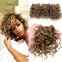 3Pcs Afro Kinky Curly Hair Weaves Synthetic Hair Extensions Crochet Hair Weft