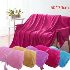 Super Soft Warm Solid Warm Micro Plush Fleece Blanket Throw Rug Sofa Bedding