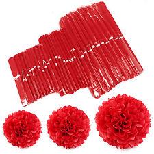 30 Stück Papier PomPoms DIY Kugel Blume PomPom Geburtstagsfeier Hochzeit Party