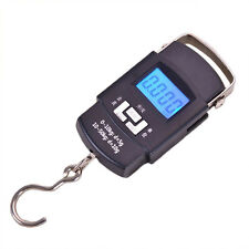 Portable 50kg/10g Hand Held Digital Fish Luggage Weight Electronic Hook Scale