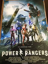 Power Rangers The Movie Signed Cast Peace Movie Poster Autograph 12x18