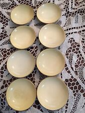 8 VTG Antique CARLTON WARE Yellow Butter Pat Single Candy Dishes England Tea