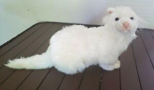 Hansa White Ferret Plush Stuffed Animal Sitting Portraits of Nature 4557 NWT