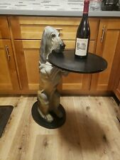 Bombay Company Sir Hawthorne Hound Dog Butler Table With Tray 1998 Retired