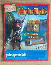 FIGURINE PLAYMO PLAYMOBIL NEUF THEME PIRATE : JOHN LE PIRATE AVEC PISTOLET SABRE