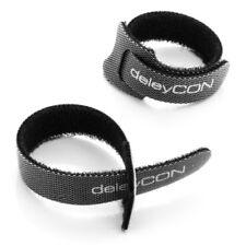 deleyCON 10x Klett Kabelbinder Kabel Band Klettband Klettbinder Klettverschluss