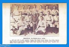 Boston Nationals 1898 Team - Postcard reproduction