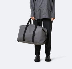 Rains Unisex 1320 Waterproof Weekend Bag Charcoal Grey