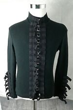Shrine of Hollywood Black Gothic Punk D-Ring Buckle Jersey Jacket Size S or L