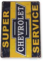 TIN SIGN Chevrolet S-Service Décor Wall Art Garage Auto Shop A289