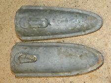2 ancien fourreau en métal PORTE OUTILS jardinage JARDIN vintage TOOL couteaux