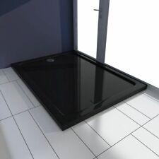 Vidaxl Piatto doccia rettangolare in ABS Nero 80x110 cm Base Box Cabina bagno
