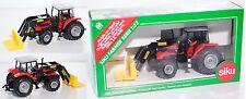 Siku Farmer 3555 Massey Ferguson 4270 Traktor mit Frontlader STOLL ROBUST, 1:32