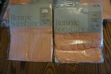 """RENNIE SUNSHINE """"LENO"""" VINTAGE CURTAIN SWAG AND TIER SET APRICOT NEW MADE IN USA"""