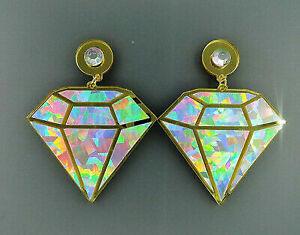 Shiny Exaggerated Acrylic Dangle Earrings for Women Girls - Emoji Diamond