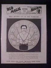 VINTAGE NEWSPAPER HEADLINE~HANDCUFF ESCAPE GAME MAGIC MAGICAN HARRY HOUOINI RARE