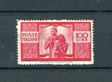 Italia 1945 Democratica L 100 mnh cat 450 €