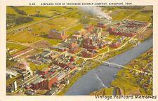 KINGSPORT TN 1948 Airplane View of Tennessee Eastman Company VINTAGE KODAK GEM++