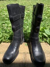 Born Ivy Black Full-Grain Leather Buckle Boots Women's US 6M BRAND NEW IN BOX