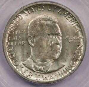1946-D Booker T Washington BTW Classic Silver Commemorative Half Dollar ICG MS66