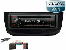 Fiat Grande Punto EVO ab 2010 Kenwood CD USB MP3 Aux In Radio Einbau Set