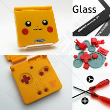 New Pokemon/Pikachu Nintendo Game Boy Advance SP GBA Case/Shell/Housing & Glass