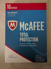 McAfee Total Protection 2017 10 Devices Key Code Box 1 Year with Free Ship