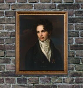Old Master Art Man Portrait Gentleman Oil Painting on Canvas Unframed 24x30