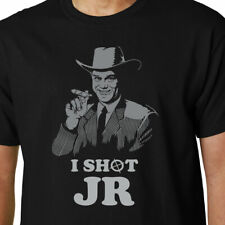 I Shot JR t-shirt DALLAS EWING EIGHTIES 80'S CULT TV CRAGGY FUNNY QUOTE GEEK TOM