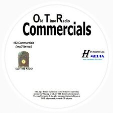 OLD TIME RADIO COMMERCIALS - 153 Commercials In MP3 Format OTR On 1 CD