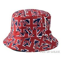 New Unisex Fisherman Summer Festival Union Jack UK Flag Cotton Bucket Hat Cap