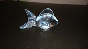 Vintage=ONEIDA=Clear Crystal FISH Figurine for Collection=Korea=NR=
