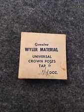 Genuine Wyler Material, Universal Crown Posts, Tap 6, Watch Parts