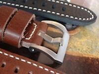 QUALITY LEATHER STRAP HAND MADE TO FIT PANERAI PAM WATCHES BY EICHMUELER GERMANY
