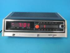 Vintage Zenith AM FM Stereo Alarm Clock Radio H461W W/ Power Surge Tested Works