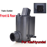 Twin Outlet Front Rear Windscreen Washer Motor Pump For Hyundai i20 i40 Santa Fe