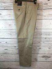 Banana Republic Mens Khaki Non-Iron Flat Front Dress Pants Size 32x30 NWT Q1