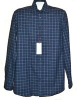 Luciano Barbera Men's Blue  Plaids Italy  Casual Woven Cotton Shirt Sz US L NEW
