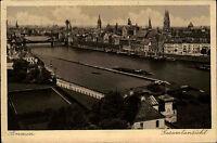 Bremen alte Ansichtskarte 1929 Gesamtansicht Blick zur Stephanibrücke Schiff