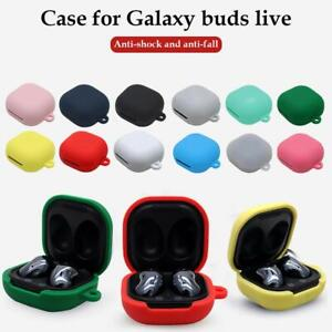 Silicone Cover Protective Carry Case With Carabiner For Samsung Galaxy Buds Live