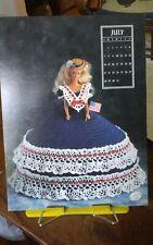 Vtg Annies Attic calendar doll crochet gown chart Miss July Antebellum