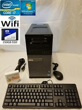 Dell Optiplex 790, Intel i7, 4GB RAM, 250GB SSD, Card reader, Dual DVD, WiFi
