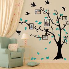 Décorations murales et stickers noirs en miroir pour la maison