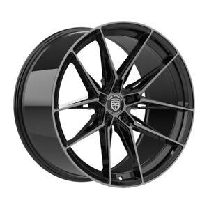 4 GWG HP1 20 inch Black Dark Tint Rims fits INFINITI Q50 S 2014 - 2018