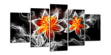 Tableau Déco Moderne abstrait 5 partie Image sur toile 200x100 cm