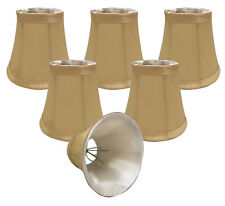Royal Designs Chandelier Lamp Shades -  - Soft Bell - Antique Gold - Set of 6