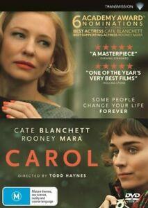 Carol DVD REG 4 AUST - Cate Blanchett, Rooney Mara Lesbian Interest