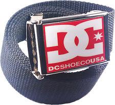 DC Red White Belt Buckle Bottle Opener Adjustable Web Belt