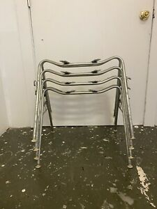 4 Vintage Eames For Herman Miller Stacking Narrow Mount Shell Chair BASES
