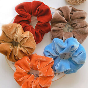 Women Girls Scrunchies Sweet Velcet Hair Ring Rope Elastic Ties Ponytail Holder